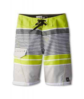 Rip Curl Kids Livin Stripe Boardshort Boys Swimwear (Green)