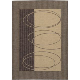 Couristan Five Seasons Boulder Indoor/Outdoor Area Rug   Cream/Brown