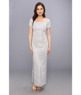 Laundry by Shelli Segal Venice Lace Gown Womens Dress (Silver)