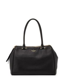 charles street kensington satchel bag, black   kate spade new york