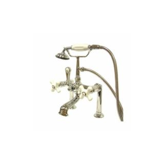 Elements of Design DT1041PX St. Louis Clawfoot Tub Filler With Hand Shower