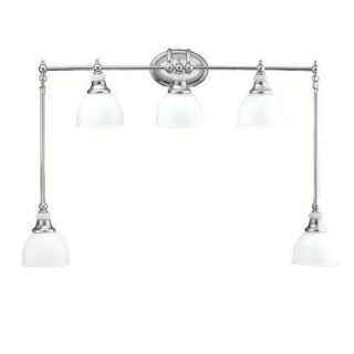 Kichler 5371CH Bathroom Light, Transitional Bath Swag 5Light Fixture Chrome