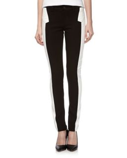 Super Skinny Ponte Faux Leather Pants