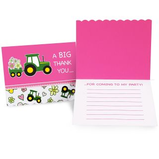 John Deere Pink Thank You Notes