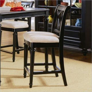 American Drew Camden Black Counter Height Stools   Set of 2   ADL4344