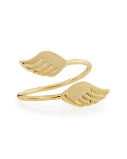 Gold Plate Wings Midi Ring