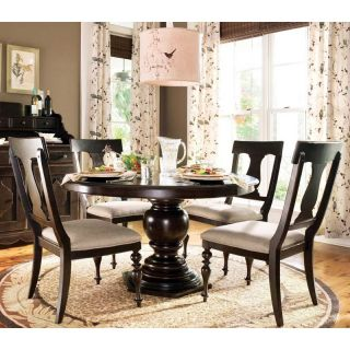Paula Deen Down Home Round Pedestal Dining Table   Tobacco Multicolor   UNIR1300