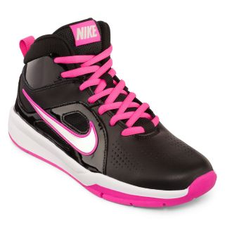 Nike Hustle D6 Grade School Girls Basketball Shoes, Black/White/Pink, Girls