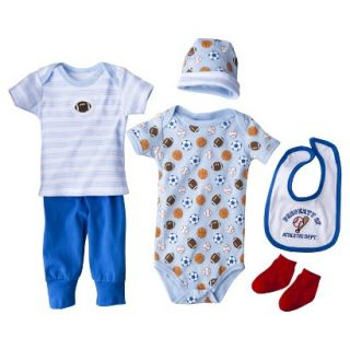 Luvable Friends Newborn Boys 6 Piece Layette Box Set   Blue 0 6 M