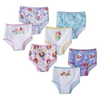 Disney Toddler Girls 7 Pack Ariel Briefs 4T