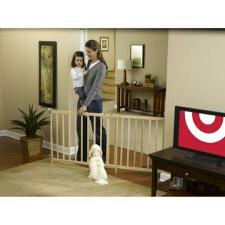 GuardMaster III 490 Tall Super Wide Wood Slat Swing Baby and Pet Gate