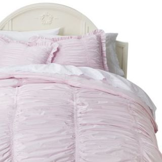 Simply Shabby Chic Rouched Comforter Set   Pink (Twin)