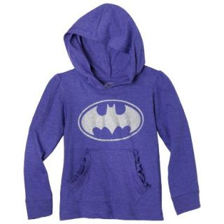 Batgirl Infant Toddler Girls Long Sleeve Hooded Tee   Purple 12 M