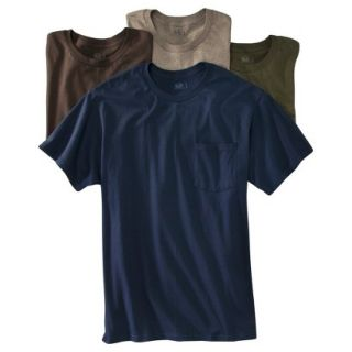 Fruit of the Loom Mens 4 pack Pocket Tee   Assorted Colors L