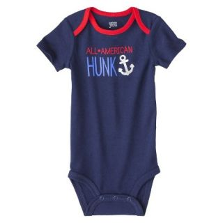 Just One YouMade by Carters Newborn Boys Single Bodysuit   Alpha Blue 12 M