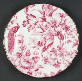Royal Albert Paradise Red Salad Plate, Fine China Dinnerware   Red/Pink Floral,S