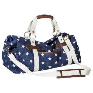 Star Print Weekender Tote Handbag with Removable Strap   Navy