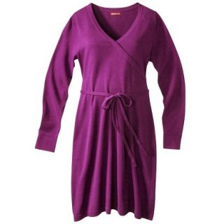 Merona Maternity Long Sleeve V Neck Sweater Dress   Purple XXL