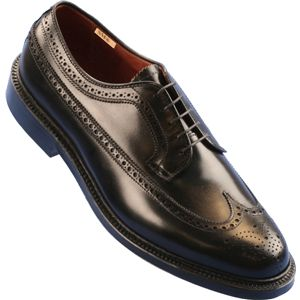 Alden Mens Long Wing Black Calf Shoes, Size 12 D   9753