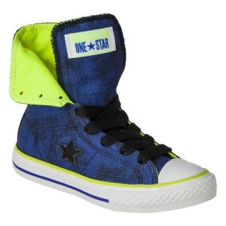 Boys Converse One Star High Top Sneaker   Navy 3.5