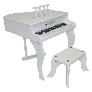 Schoenhut Fancy Baby Grand Piano   White