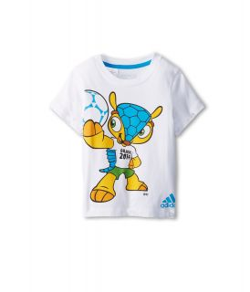 adidas Kids Fuleco Tee Boys Short Sleeve Pullover (White)