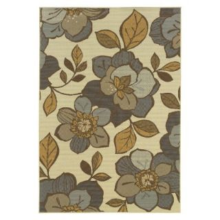 Alyse Floral Indoor/Outdoor Accent Rug (37x56)