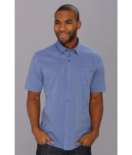 Volcom Weirdoh Solid S/S Shirt Mens Short Sleeve Button Up (Blue)