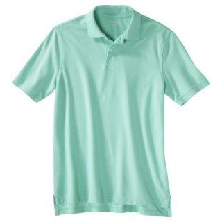 Mens Classic Fit Polo Shirt Light Blue Water Slide M