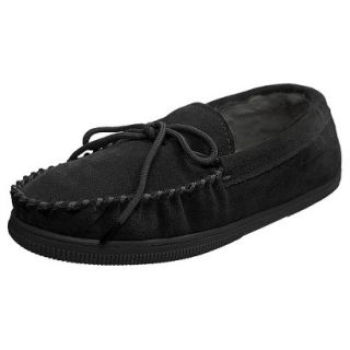 Mens Bosto Faux Suede Slippers Black 11
