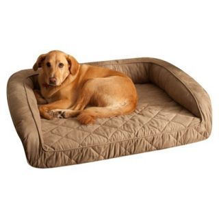Buddy Beds Memory Foam Bolster Dog Bed  Taupe (Large)