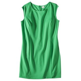Merona Womens Plus Size Sleeveless Ponte Sheath Dress   Green 2