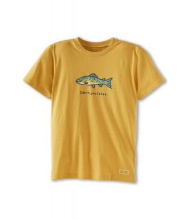 Life is good Kids Catch You Later Crusher Tee Boys T Shirt (Gold)