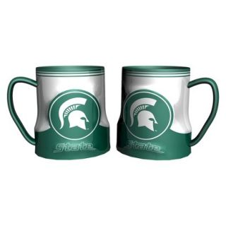 Boelter Brands NCAA 2 Pack Michigan State Spartans Game Time Coffee Mug