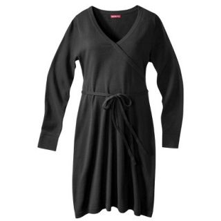 Merona Maternity Long Sleeve V Neck Sweater Dress   Black XL