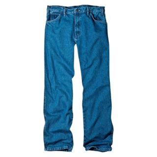 Dickies Mens Relaxed Fit Jean   Stone Washed Blue 46x32