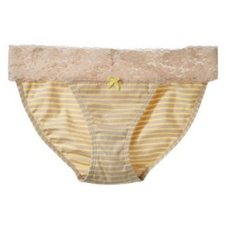 Xhilaration Juniors Wide Lace Cotton Bikini   Dandelion Yellow S