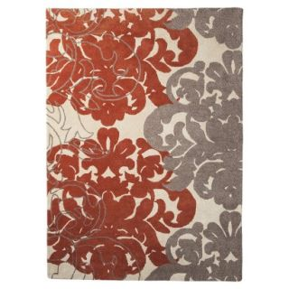 Threshold Exploded Damask Area Rug   Coral/Gray (5x7)