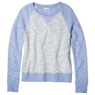 Mossimo Supply Co. Juniors Crewneck Sweatshirt   Cool Breeze Blue S(3 5)