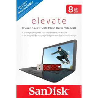 SanDisk Facet 8GB USB Flash Drive   Red (SDCZ55 008G T46R)
