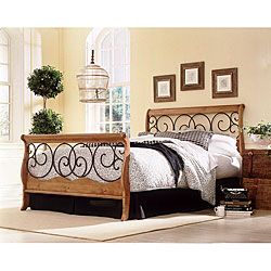Fashion Bed Group Dunhill Full size Bed And Frame Oak Size Full