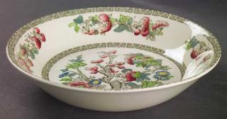 Johnson Brothers Indian Tree (Green Key, Cream) Coupe Soup Bowl, Fine China Dinn