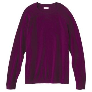 Merona Mens Cotton Cashmere Pullover Sweater   Wineberry S