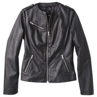 Mossimo Womens Faux Leather Jacket  Black L