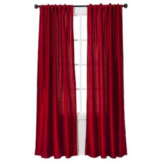 Threshold Faux Silk Window Panel   Red (54x84)