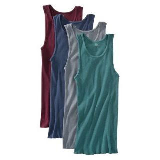 Fruit of the Loom Mens A Shirts 4 Pack   Assorted Colors L