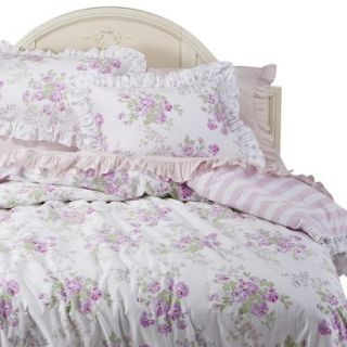 Simply Shabby Chic Essez Floral Duvet Set   White/Pink(King)