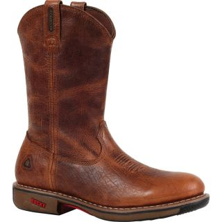 Rocky Ride 11In. Waterproof Western Boot   Palomino, Size 8, Model 4181
