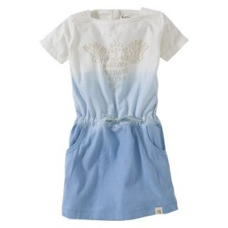 Burts Bees Baby Toddler Girls Dip Dyed Boatneck Dress   Blue 3T