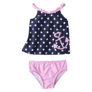 Just One You by Carters Infant Toddler Girls 2 Piece Polka Dot Tankini